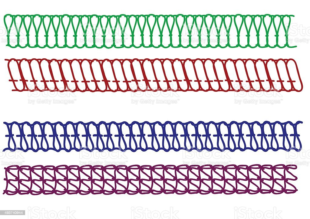 Vector seams . vector art illustration