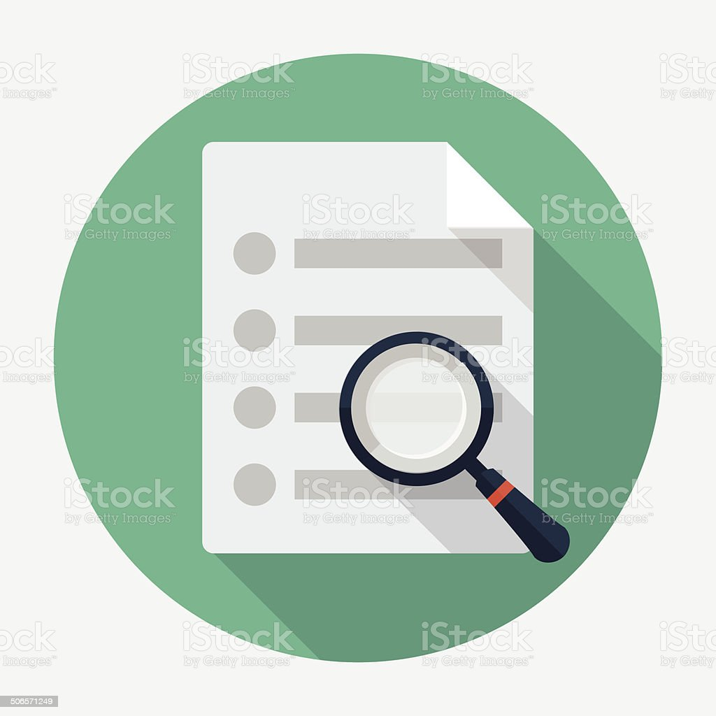 Vector search document icon vector art illustration
