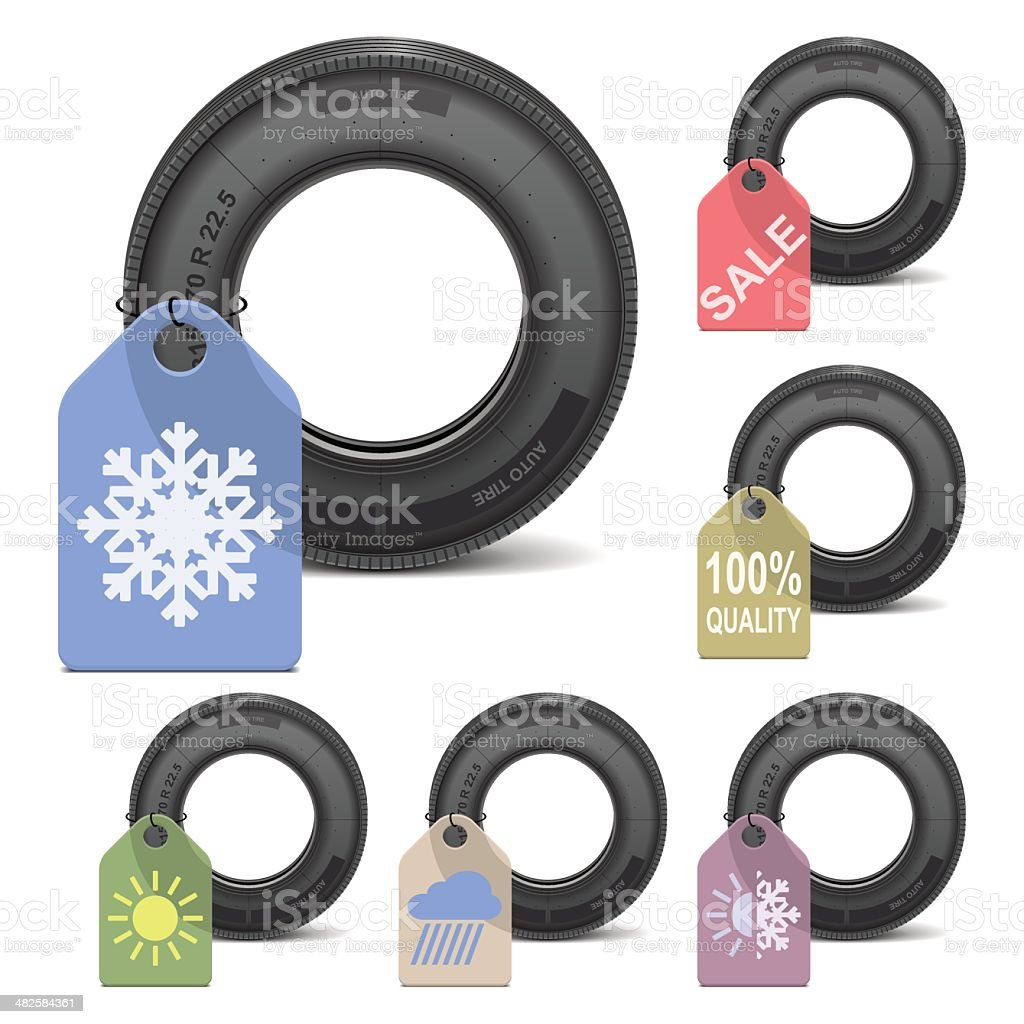 Vector Season Tire Sale royalty-free stock vector art