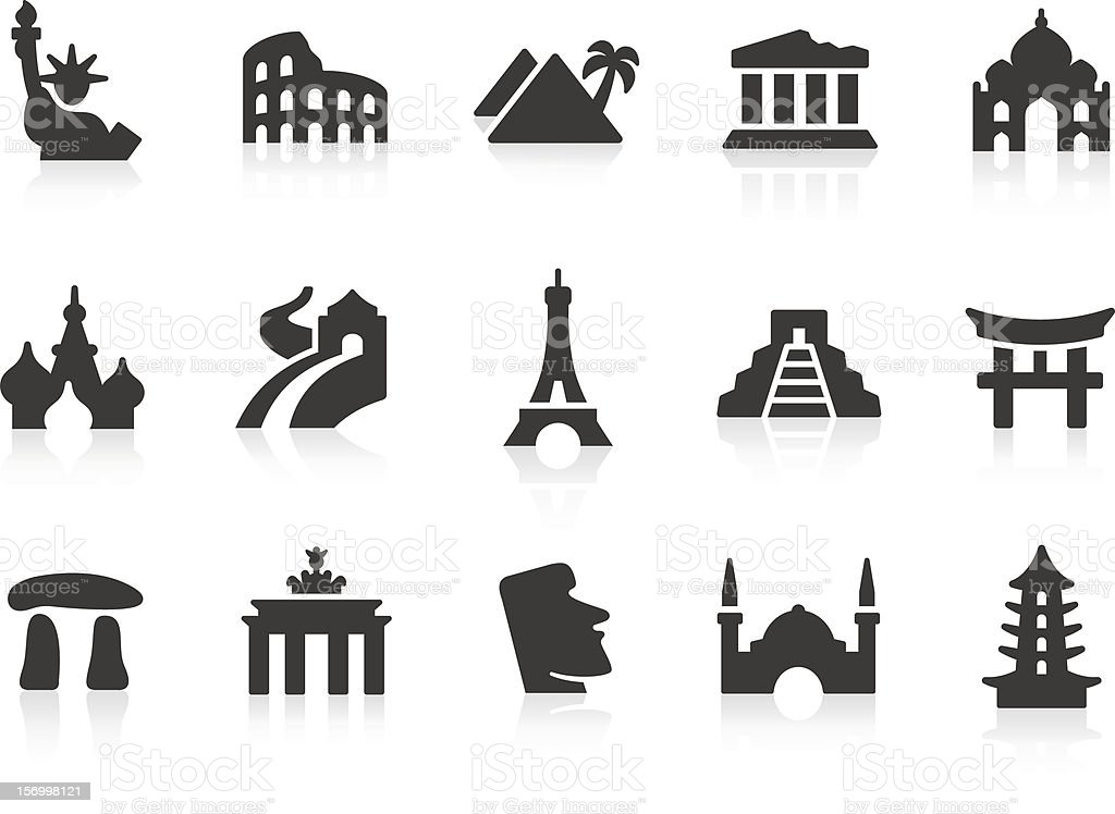 Vector series of landmark icons royalty-free stock vector art