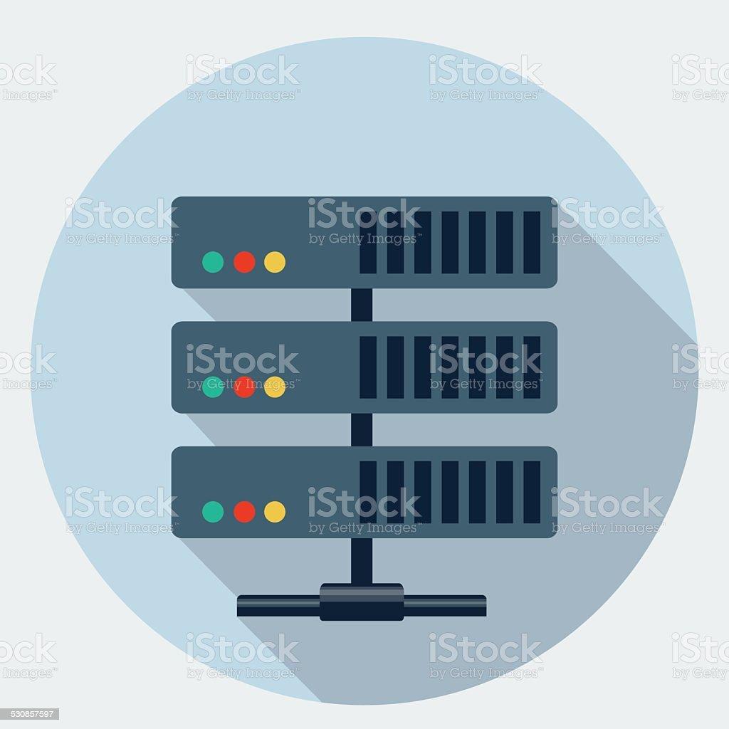 Vector server icon vector art illustration