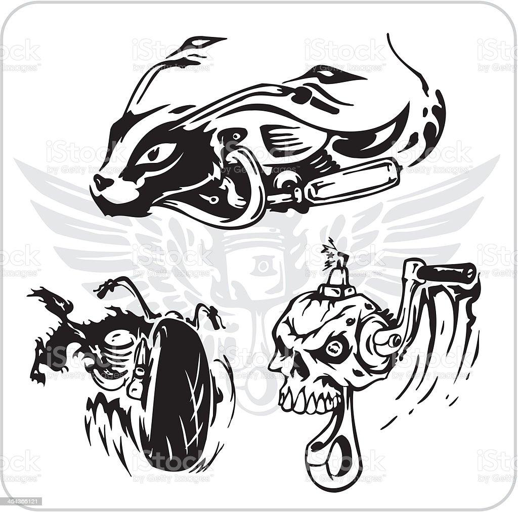 Vector set - Bike symbol. royalty-free stock vector art