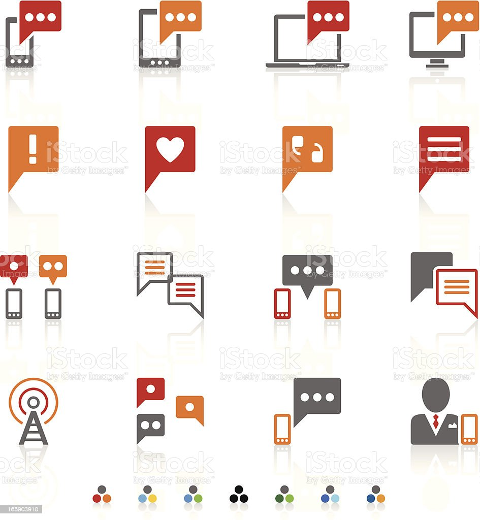 Vector set communication icons royalty-free stock vector art