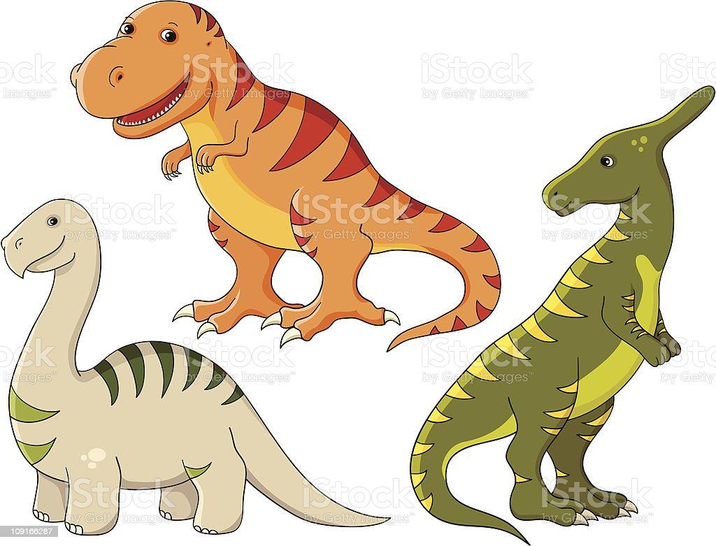 Vector set - dinosaurs royalty-free stock vector art