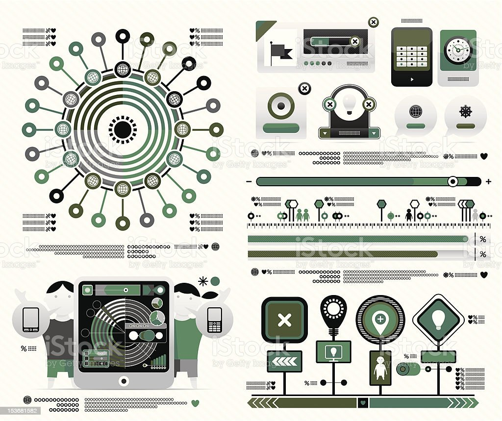 vector set for a magazine infographic royalty-free stock vector art