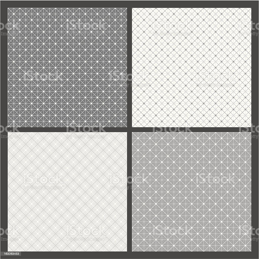 Vector set: geometric patterns royalty-free stock vector art