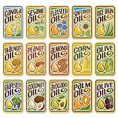 Vector set logo Cooking and Frying Oil