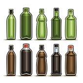 Vector Set logo Glass Bottles