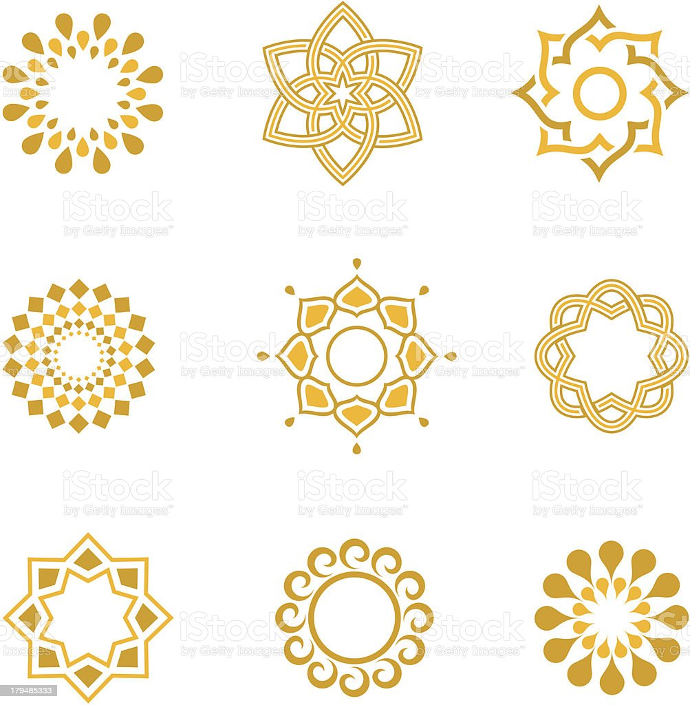 Vector set Luxury Calligraphic design elements and page decoration royalty-free stock vector art