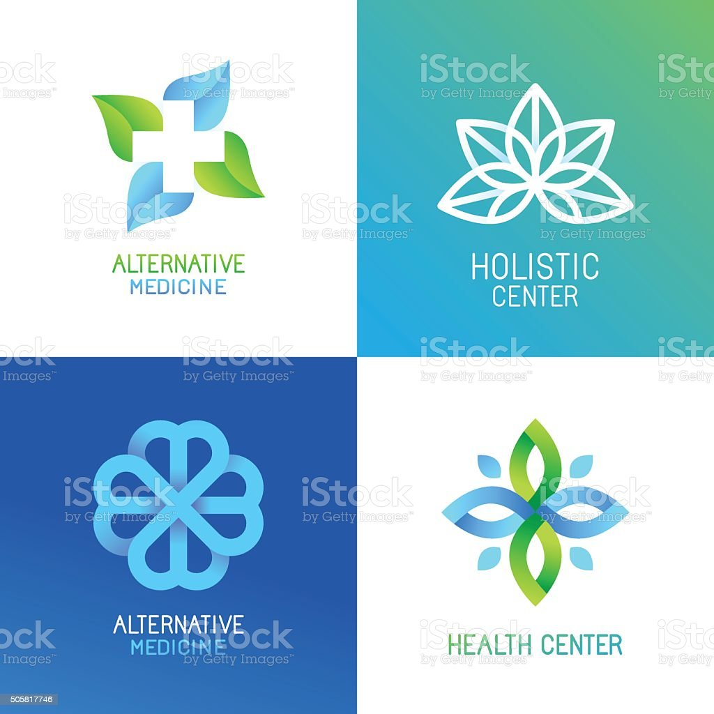 Vector set of abstract and emblems vector art illustration