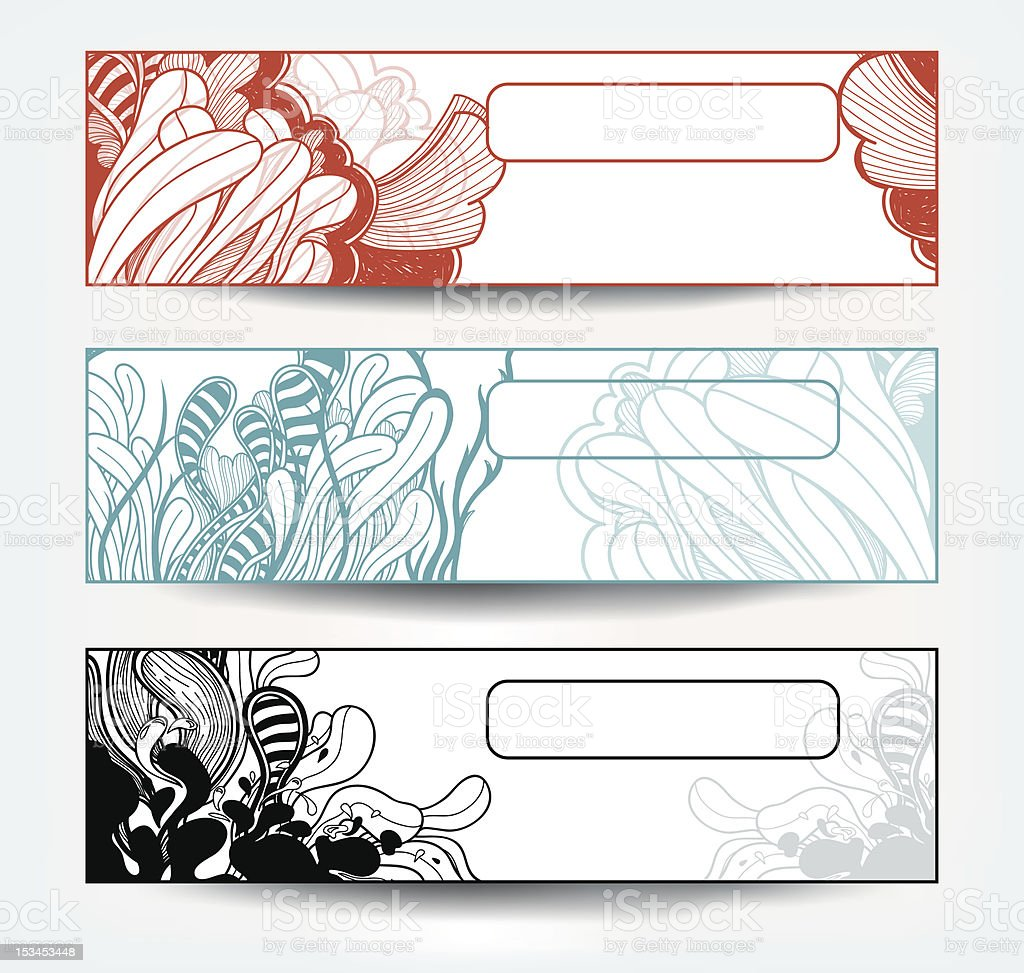vector set of abstract banners royalty-free stock vector art