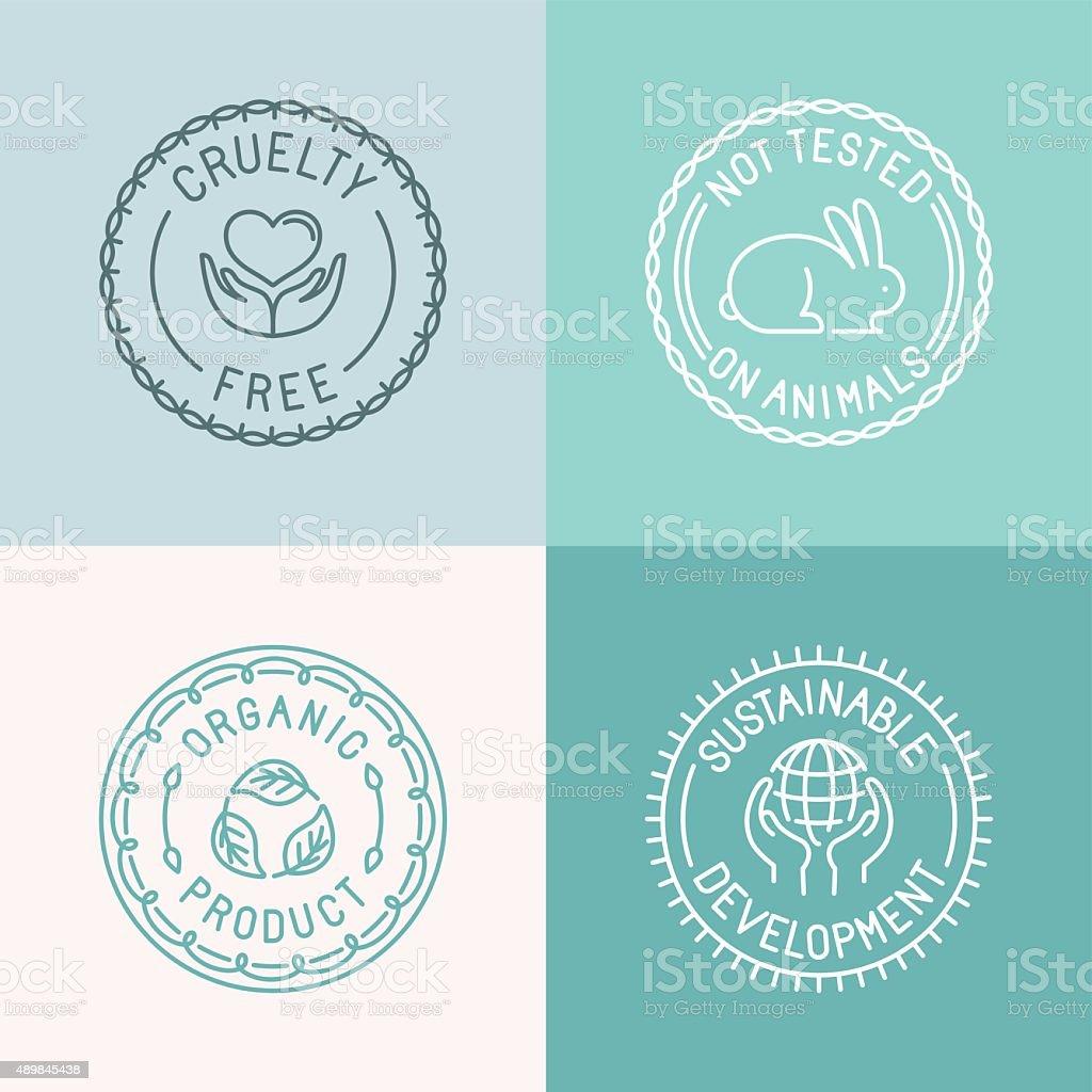 Vector set of badges and emblems vector art illustration