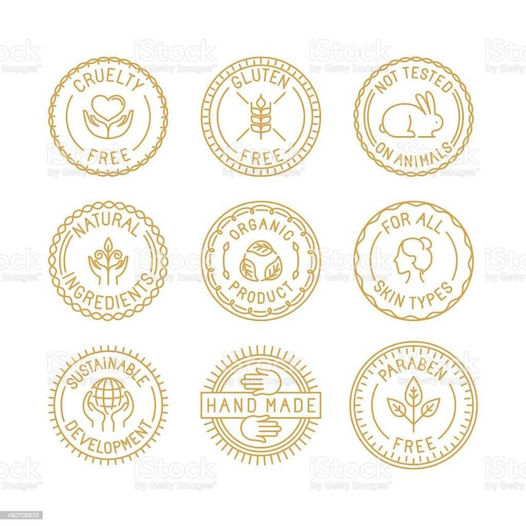 Vector set of badges and labels vector art illustration