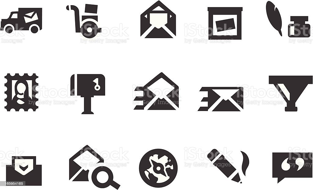 Email Campaign Icons vector art illustration