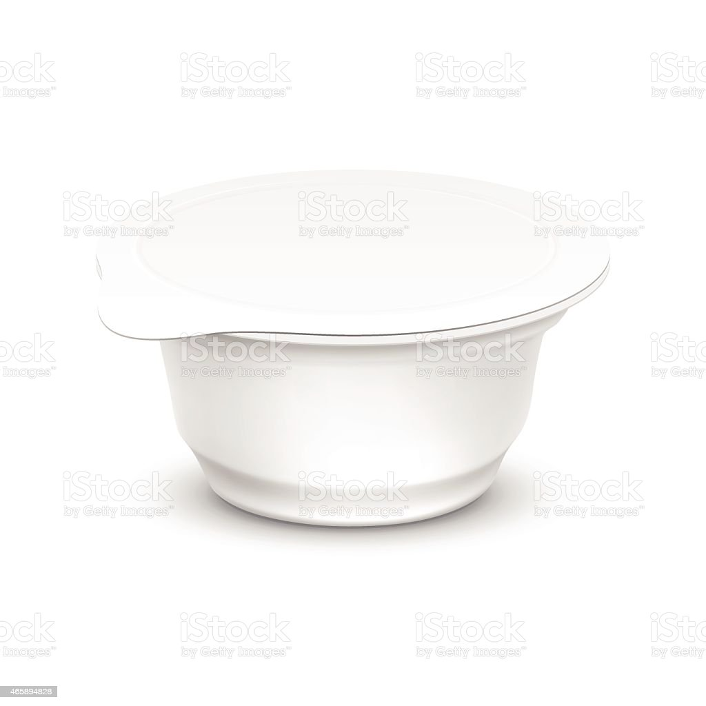 Vector Set of Blank White Packaging Container vector art illustration