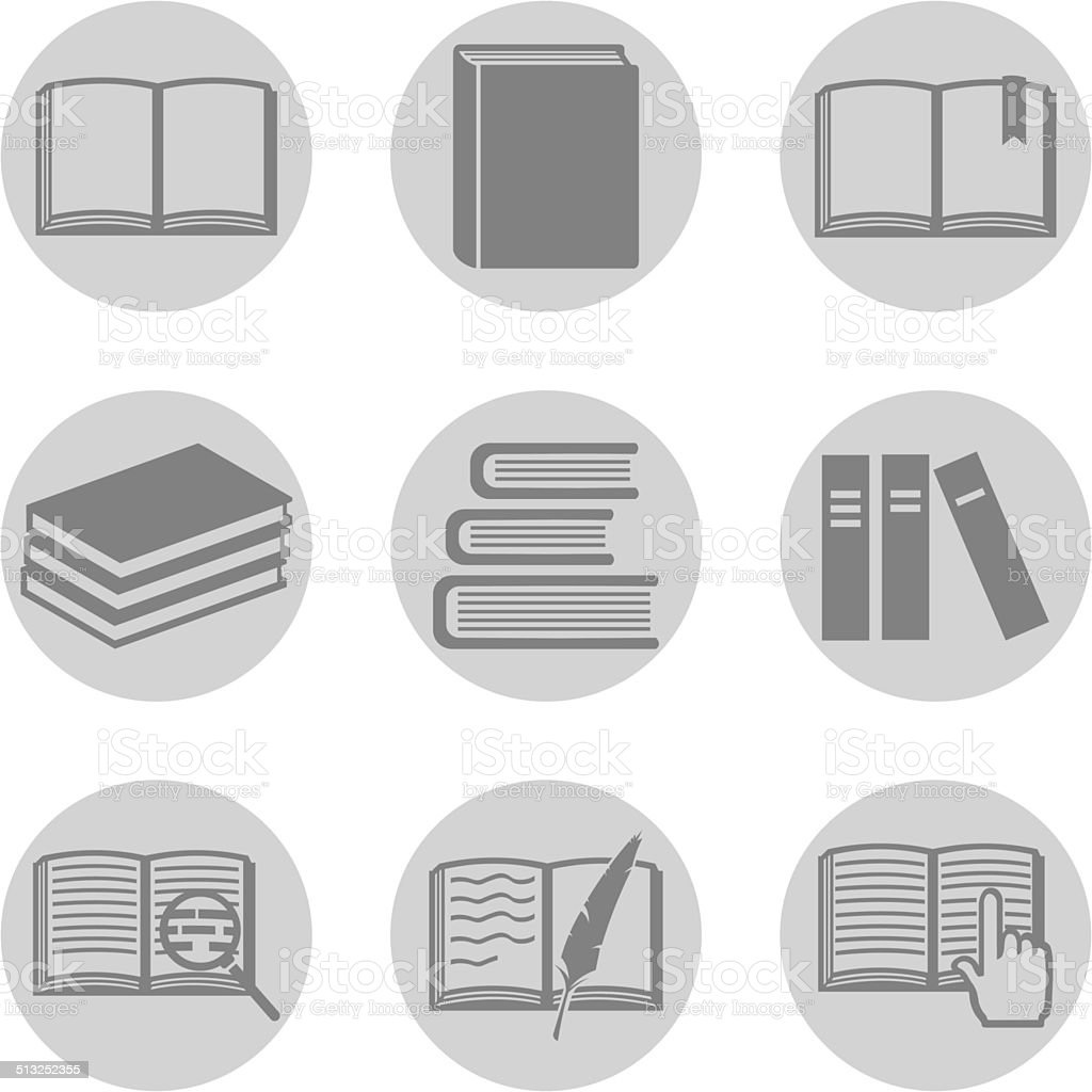 Vector Set of  Books Icons vector art illustration