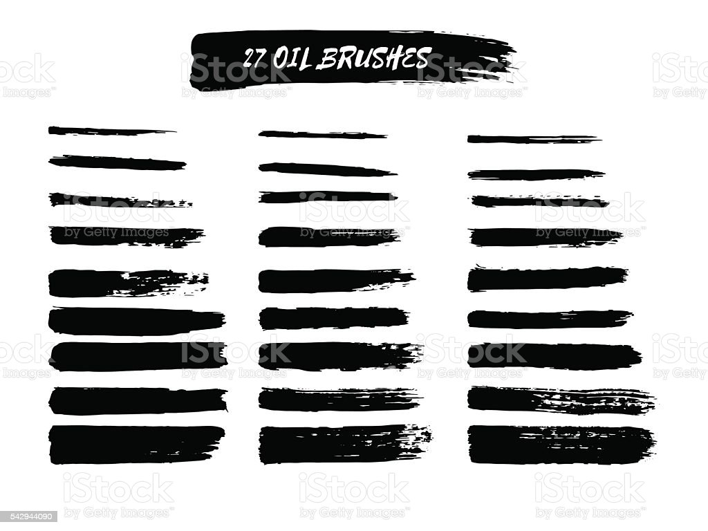 Vector set of  brush strokes. vector art illustration