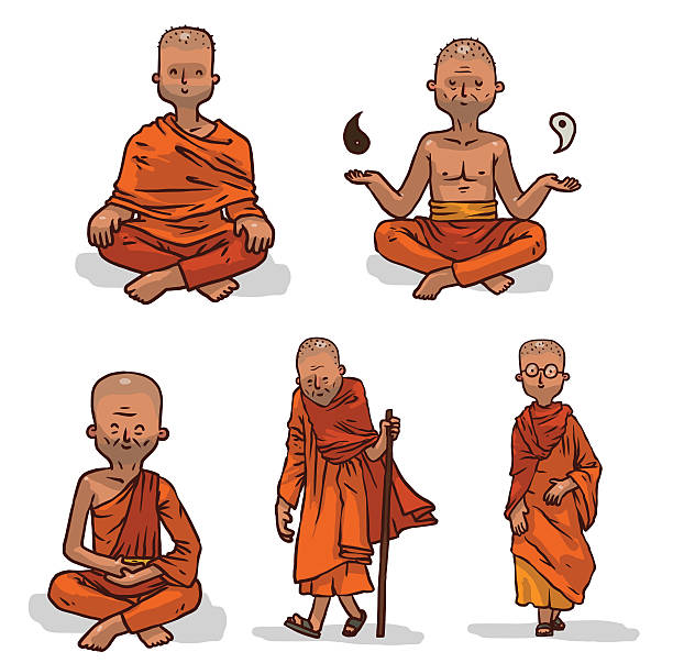 Monk Clip Art, Vector Images & Illustrations - iStock
