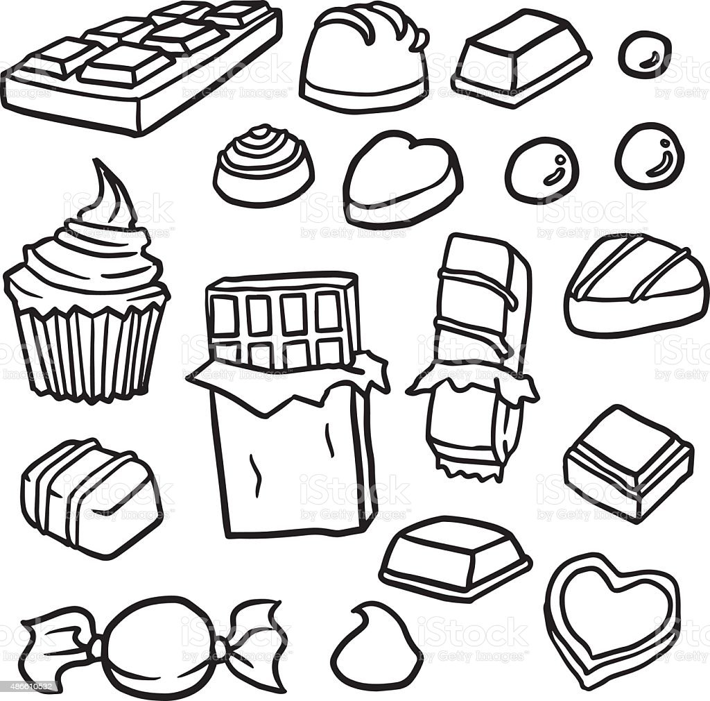 vector set of chocolate vector art illustration