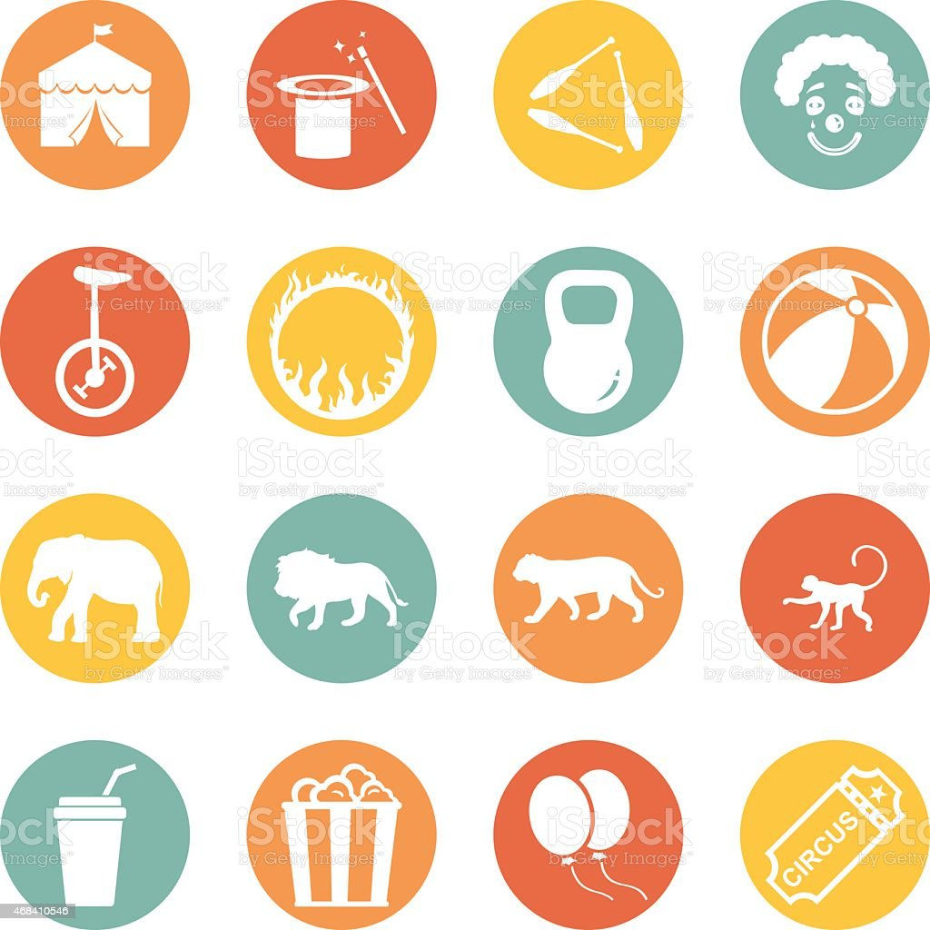 Vector Set of Circus Icons vector art illustration