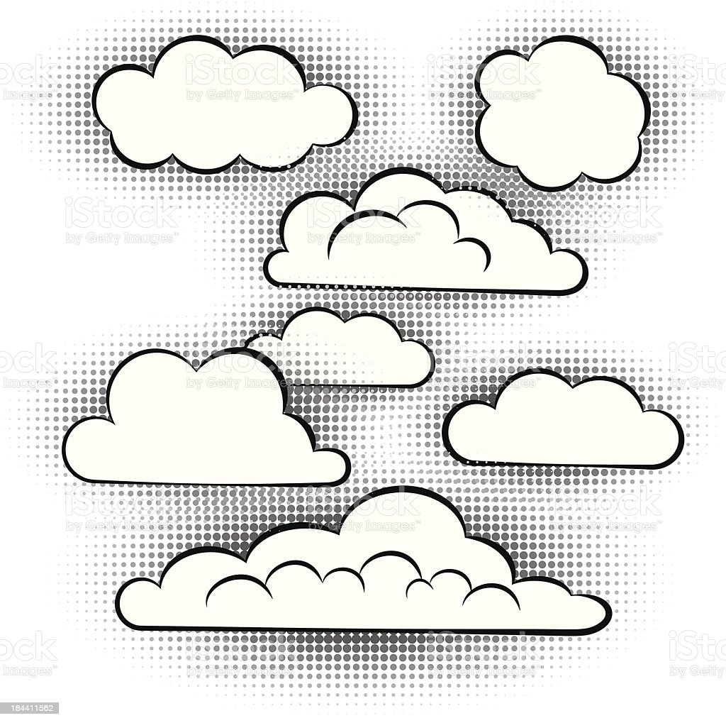 vector set of  clouds royalty-free stock vector art