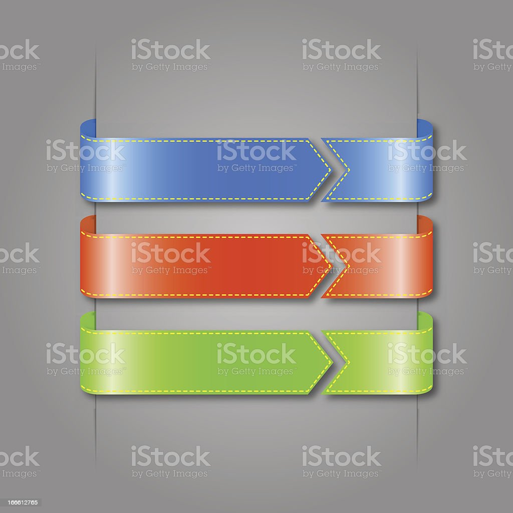 Vector set of color ribbons. royalty-free stock vector art