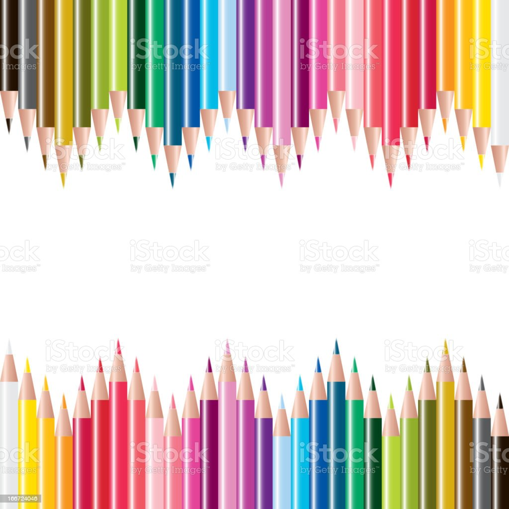 vector set of colored pencils royalty-free stock vector art