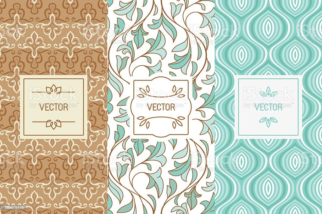 Vector set of design elements for cosmetic and beauty product vector art illustration