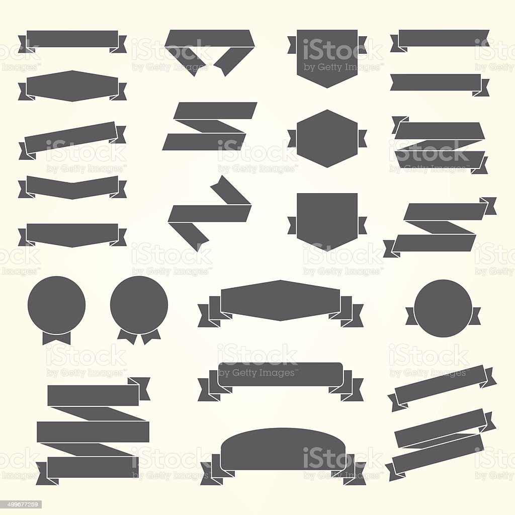 Vector set of design elements vector art illustration