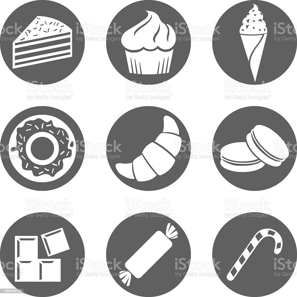 Vector Set of Dessert Icons vector art illustration
