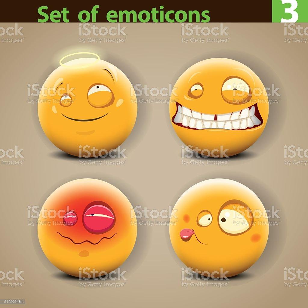 Vector set of different Emoticons vector art illustration