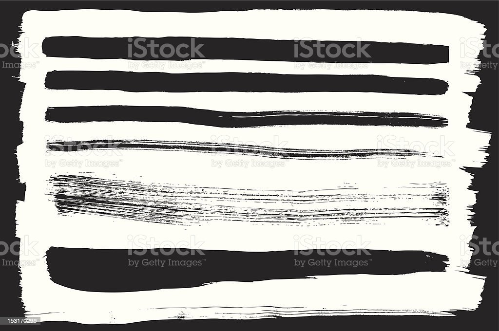 Vector set of different ink strokes royalty-free stock vector art