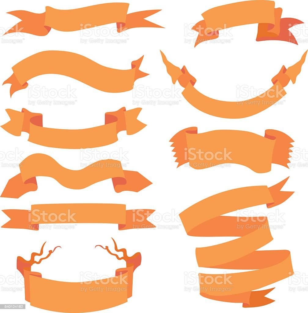 Vector Set of  Different Ribbons for Your Text. vector art illustration