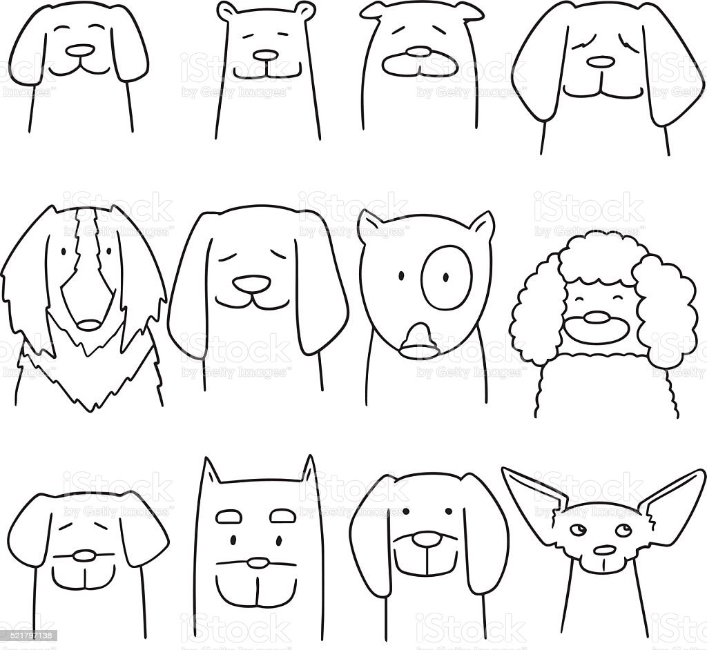 vector set of dog vector art illustration