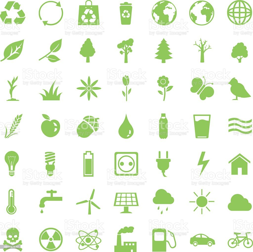 Vector Set of Ecologic Icons vector art illustration