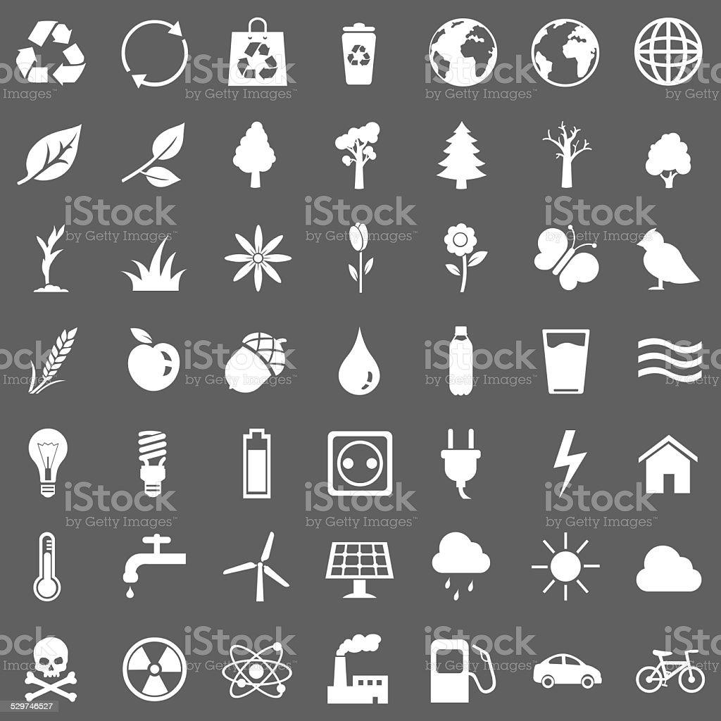 Vector Set of Ecologic Icons vector art illustration