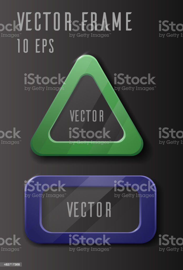 Vector set of frames with glass vector art illustration