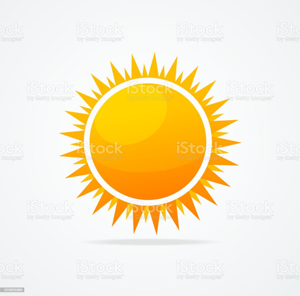 Vector Set of glossy sun vector art illustration