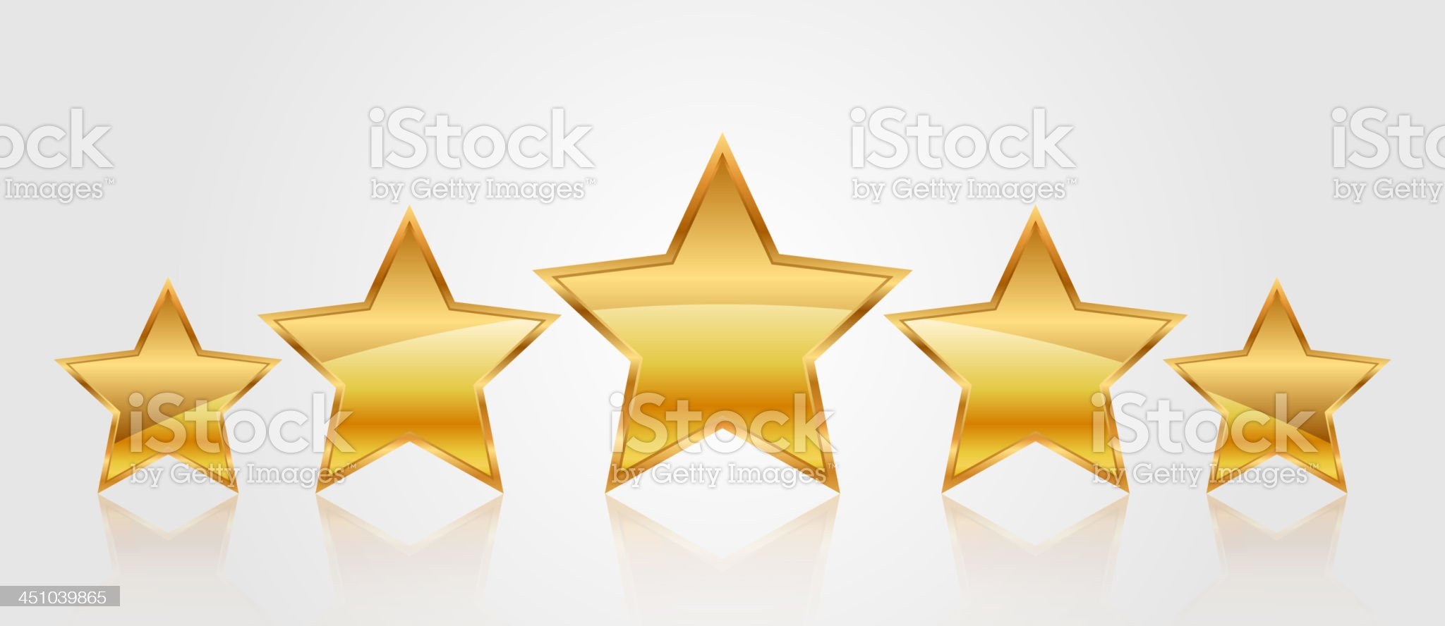 Vector set of gold stars royalty-free stock vector art