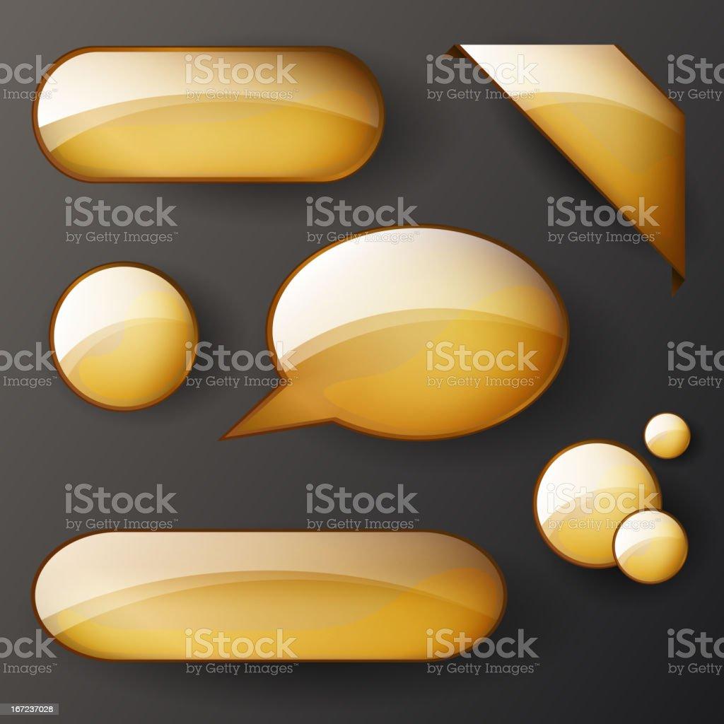 Vector set of golden shiny elements royalty-free stock vector art