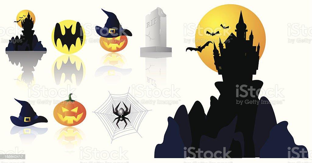 Vector set of halloween icons royalty-free stock vector art