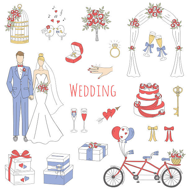 Wedding Arch Clip Art, Vector Images & Illustrations - iStock
