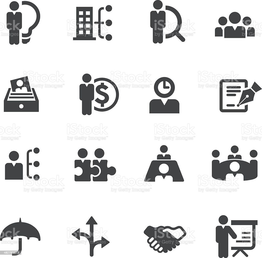 Vector set of human resource and management icons royalty-free stock vector art
