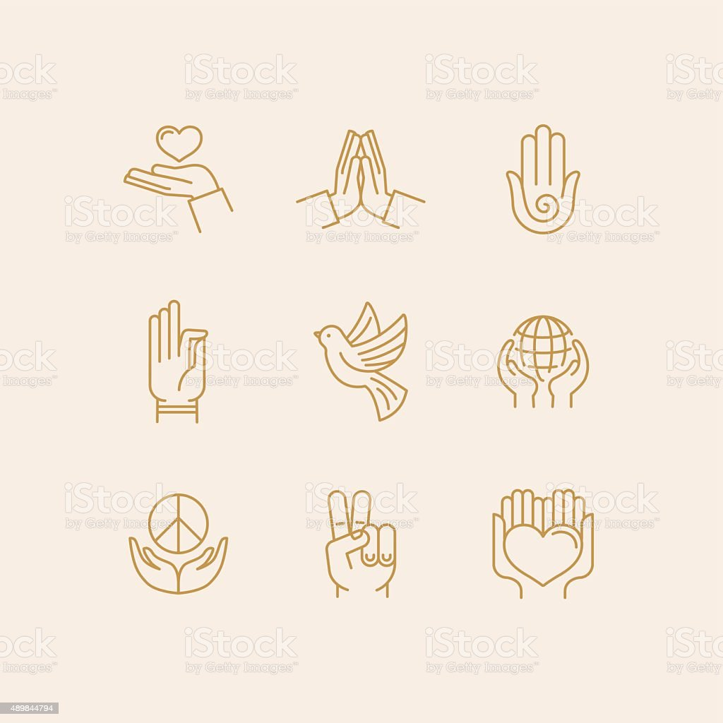 Vector set of icons vector art illustration