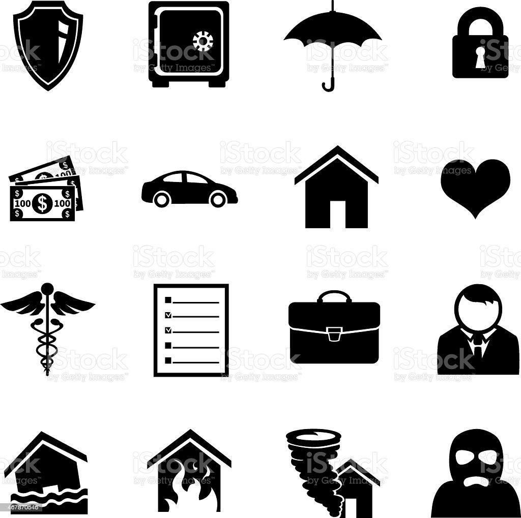 Vector Set of Insurance Icons vector art illustration