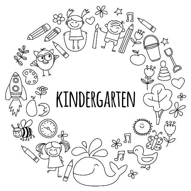 Kindergarten Clip Art: Kindergarten Clip Art, Vector Images & Illustrations