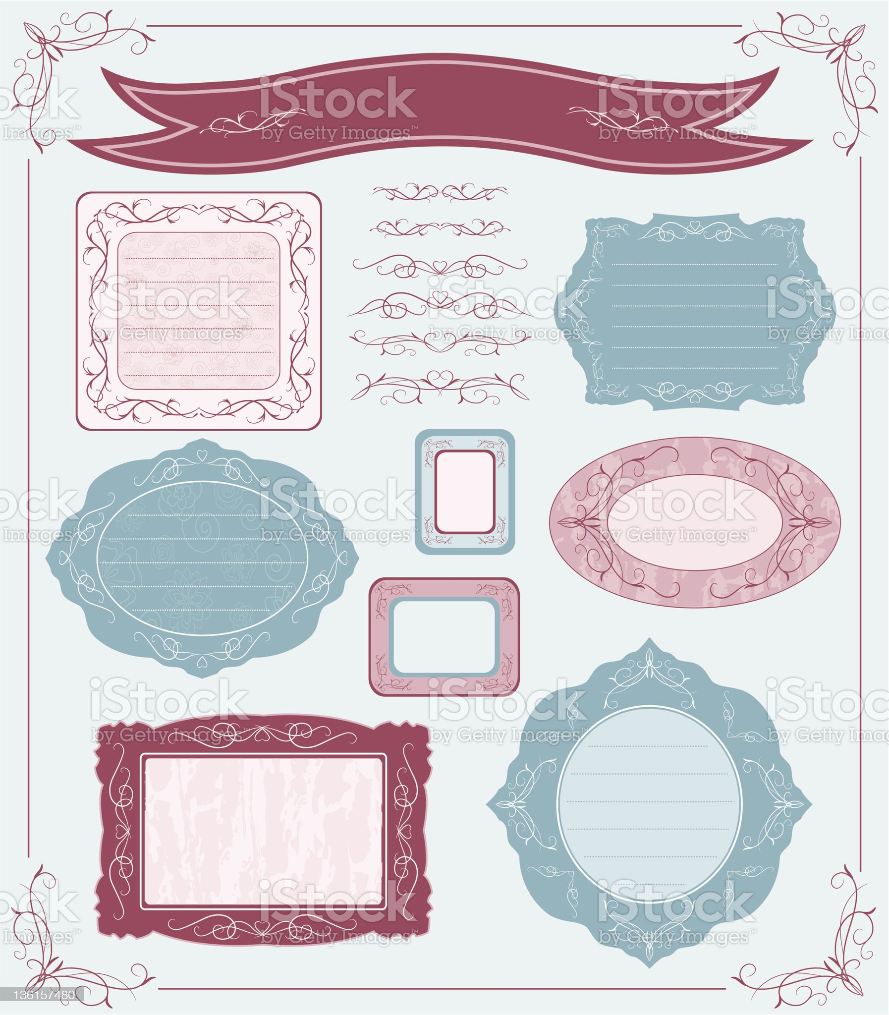 Vector set of labels royalty-free stock vector art