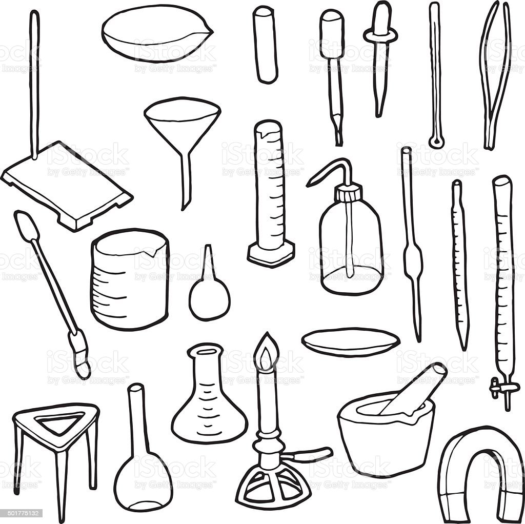 vector set of laboratory icon vector art illustration