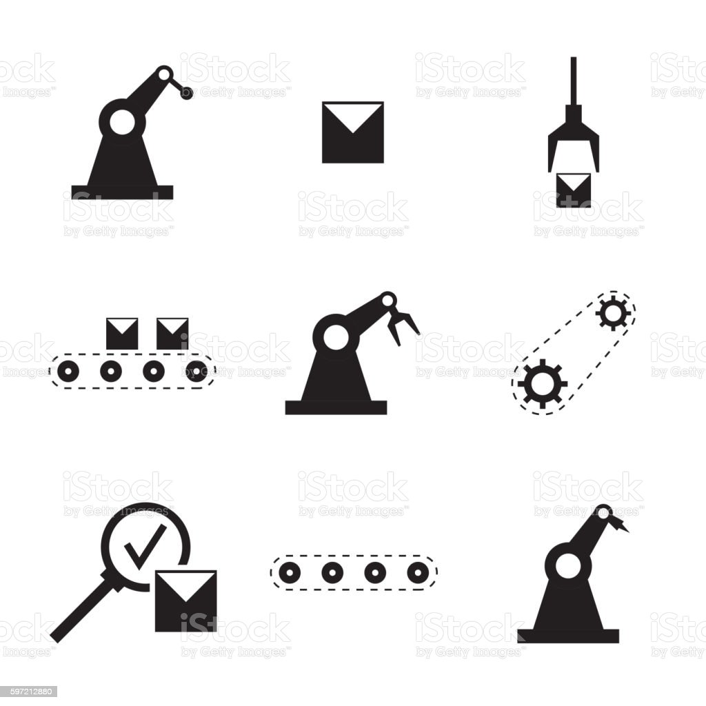 Vector set of linear icons. vector art illustration