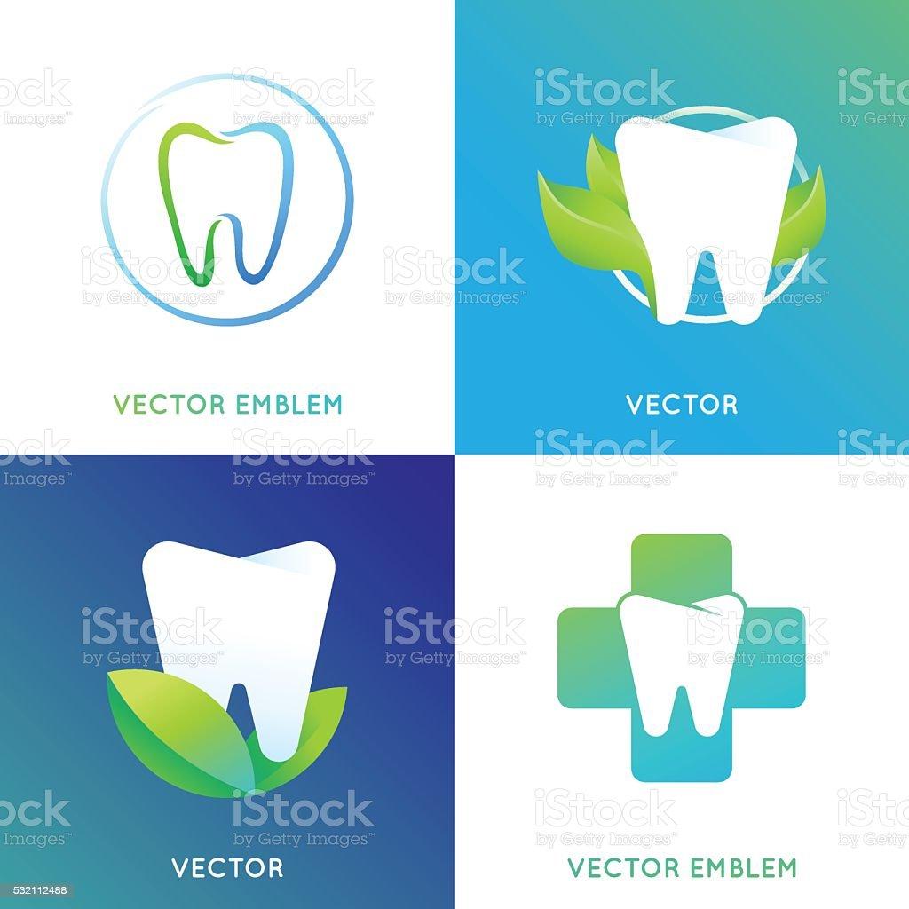 Vector set of logo design template in bright gradient color vector art illustration
